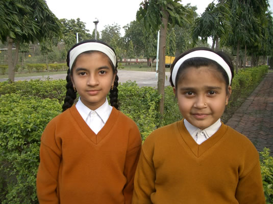 Students at Maharishi Vidya Mandir primary school